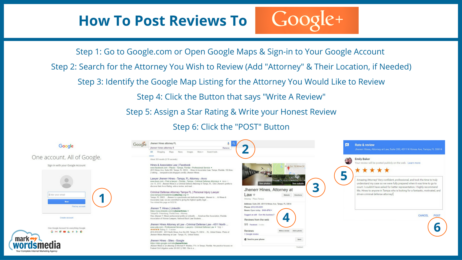 How to post attorney reviews to Google+