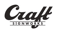 Craft SignWorks San Mateo California Sign Company