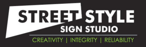 Street Style New York City Sign Company Logo