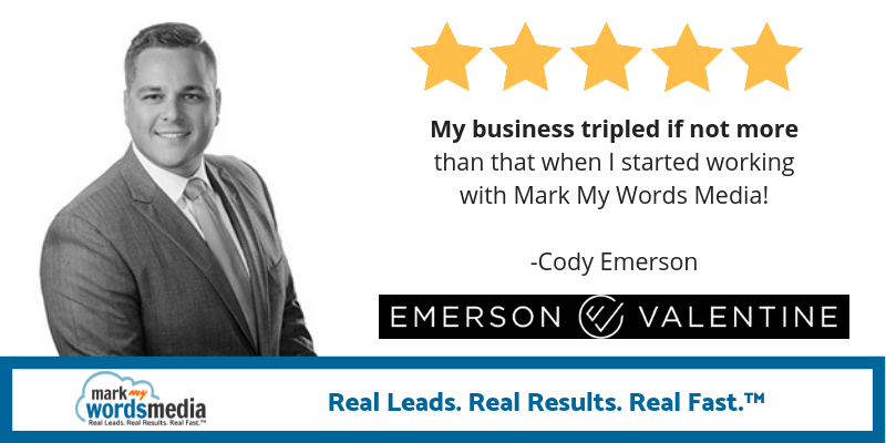 My business tripled working with Mark My Words Media as my law firm marketing provider.